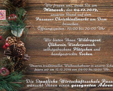 Einladung zum Weihnachtsmarkt